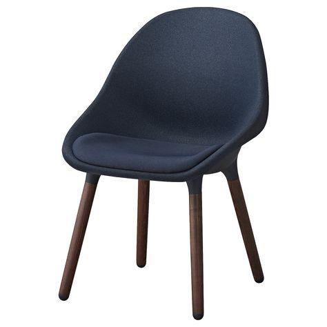 Eetkamer Stoel Ikea.Baltsar Eetkamerstoel Zwartblauw Bruin Eetkamerstoelen Ikea