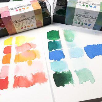 3 Liquid Watercolor Set Von Action Preiswerte Aquarellfarbe