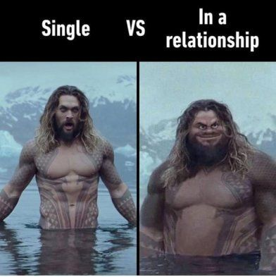 Single Vs Relationship Hotpins Viral News Funny Funnymemes Memes Aquaman Funny Pictures Funny Memes Memes