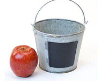 Galvanize Buckets Set Of 5 For Wedding Decor Wedding Isle Etsy Galvanized Buckets Metal Pail Small Decor