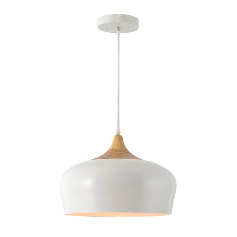 5c9f9ff51848 Dar Lighting Gaucho Large Pendant in White Gloss - Fitting & Style ...