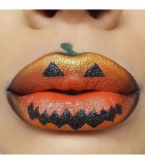 Maquiller la bouche en citrouille