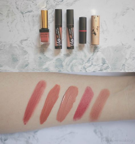 Swatchfest: MLBB, nude and neutral lipsticks. YSL Baby