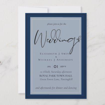 5x7 Modern Script Overlay Budget Wedding Invites Zazzle Com Budget Wedding Invitations Budget Wedding Wedding Invitations