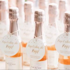 Champagne Baby Shower Tags   Grab these favor tags for a personalized touch for your baby shower favors.   Pop It When She Pops! #Babyshower #champagne
