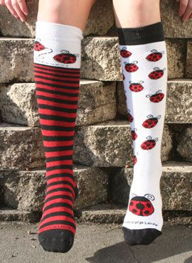 Cute Lacrosse Soccer Softball Girls Women Polka Dots Pink Knee High Socks