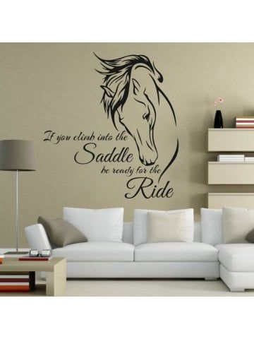 Horse Riding Wall Decal Quote Vinyl Art If You Climb Into The Saddle Be Ready For The Ride Horse Decor Wall Stickers Home Decor Home Decor Wall Stickers Murals