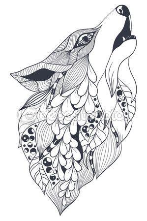 Espíritu del bosque del zorro — Vector de stock
