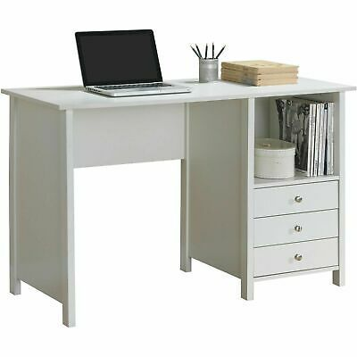 Advertisement Computer Desk Laptop Writing Study Table Home Office Furniture 3 Drawer Storage Desk With Drawers White Desks Furniture