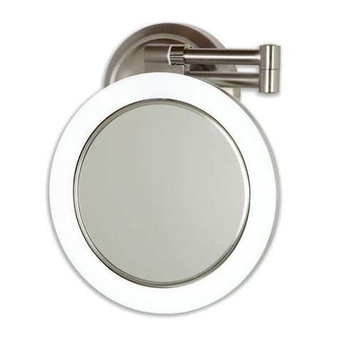 Dual Sided Swivel Wall Mount Mirror 10x 1x Wall Mounted Makeup Mirror Wall Mounted Mirror Lighted Wall Mirror