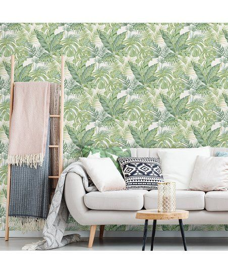 Brewster Home Fashions Green Madagascar Peel And Stick Wallpaper Zulily Nuwallpaper Trending Decor Wallpaper Roll