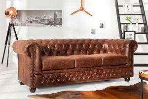 Hochwertiges Chesterfield Sofa Vintage Braun Echtes Sattelleder Couch Ledersofa Chesterfield Sofa Chesterfield Mobel Chesterfield Wohnzimmer