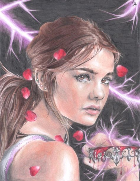 My drawing of Mare Barrow from one of my favorite books: Red Queen by…