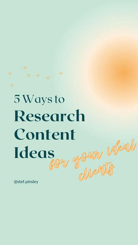 How to get content ideas research ideal client content marketing strategy small business marketing