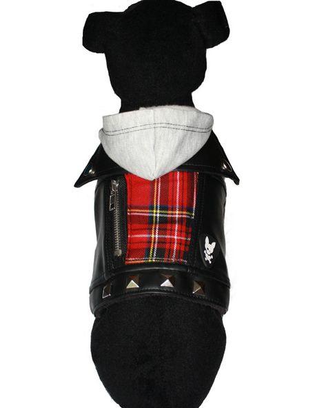 Dog Faux Leather Jacket Brit Vegan Leather Faux Leather Jackets Dog Jacket