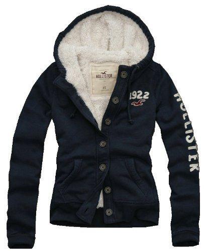 hollister button hoodie