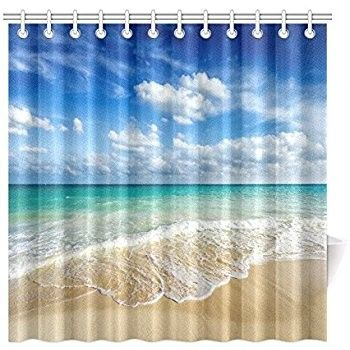 11 Shocking Facts About Beach Themed Shower Curtains Beach Themed Cloth Shower Curtains Beach Themed Shower Curtain Bed Bath And Beyond Beach Shower Curtains