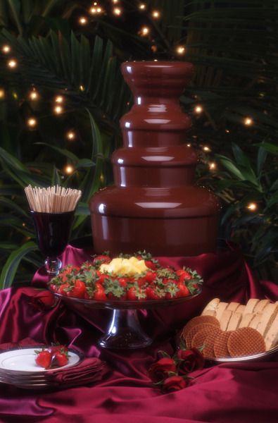 dreamy chocolate fountain!