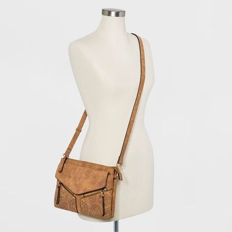c817d1c5ee VR By Violet Ray Leanna Double Zip Laser Cut Crossbody Bag   Target ...