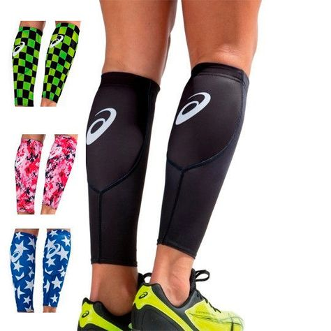 Asics Calf Sleeve, Running, Volleyball, Training Compression Support, Pair #asics