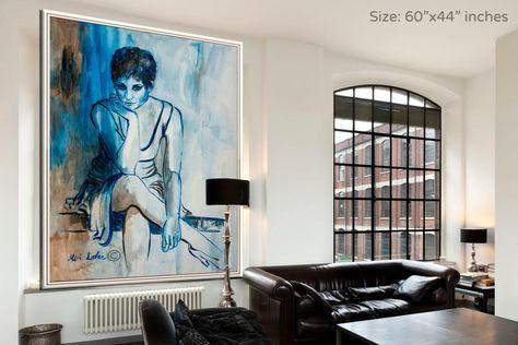 Woman Wall Art Woman Art Extra Large Wall Art Figure Art | Etsy