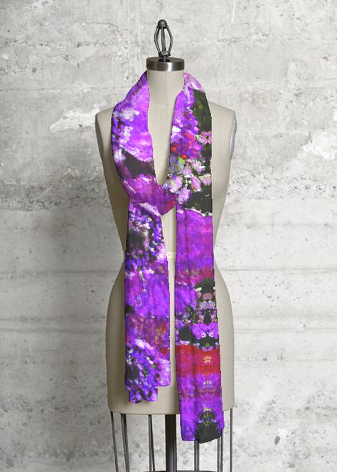 Cashmere Modal Scarf - Abstract Flower Garden by VIDA VIDA