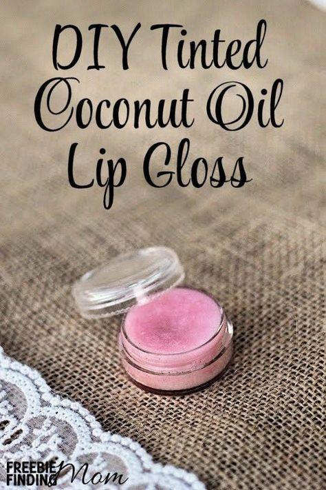 DIY Tinted Coconut Oil Lip Gloss