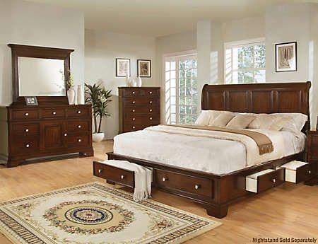 6pc king bedroom set with tv - art van furniture | for my bedroom