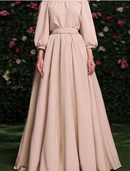 hijab casual simple long dress