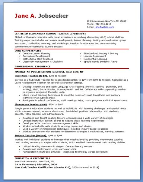 9 best Resumes images on Pinterest Resume ideas, Resume tips and - sample elementary teacher resume