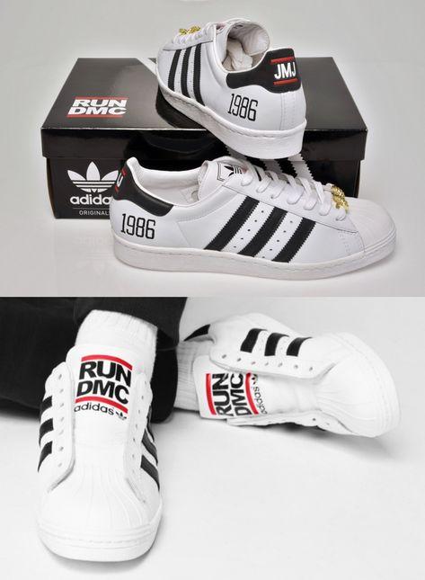 MENS Adidas Superstar Sneakers Run DMC Edition