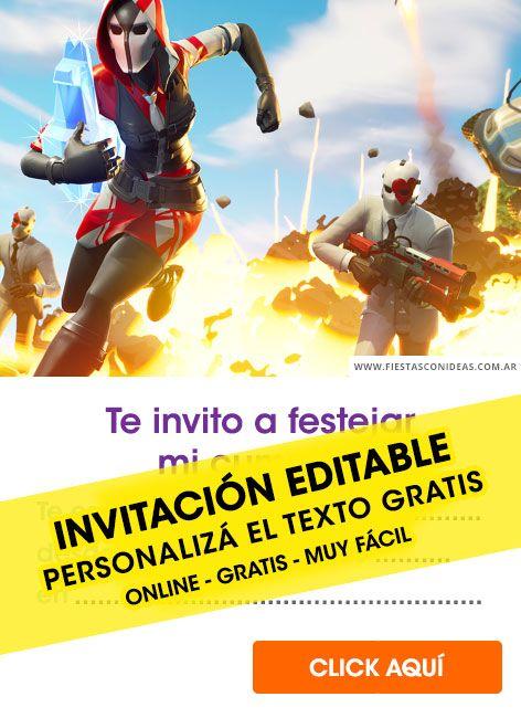 Fortnite Invitaciones Y Tarjetas De Cumpleaños De Fortnite