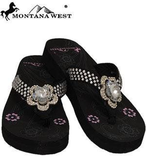 b3ccb55e8bc67 Camo angel wings cross montana west rhinestone flip flop sandal shoes size  11 in 2019