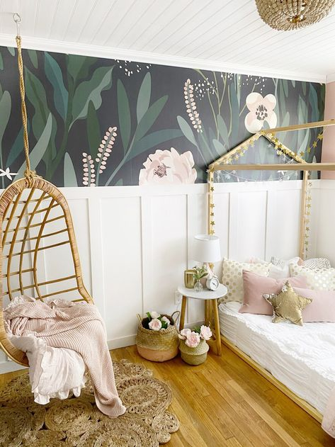 Small Space Living : Girls Bedroom Ideas, how we transformed this room - Dreaming of Homemaking Small Girls Bedrooms, Little Girl Rooms, Small Space Bedroom, Girl Bedroom Designs, Kids Room Design, My New Room, Toddler Bedroom Ideas, Tween Girls Bedroom Ideas, Girls Home