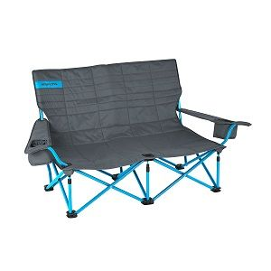 Kelty Discovery Double Folding Loveseat Camping Beach Lawn Chair Built For Two This Outdoor Folding Chair Camping Chairs Low Loveseat Coleman Camping Chairs