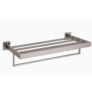Brushed Nickel Towel Racks You Ll Love Wayfair Towel Rack Wall Mount Free Standing Towel Rack