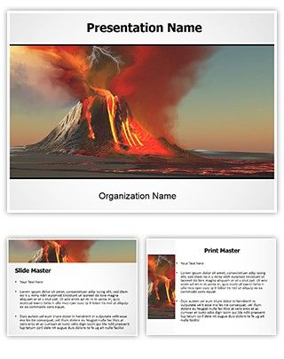 make great-looking powerpoint presentation with our volcano free, Modern powerpoint