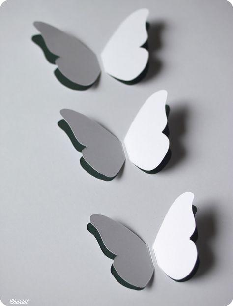 DIY - Tutoriel du cadre à papillons (Et puis la neige elle est trop molle).