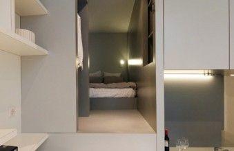 Un Studio De 27m2 Optimise Grace A Un Bloc Multifonction Chambre