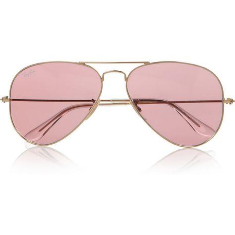 ray ban aviator rose lens