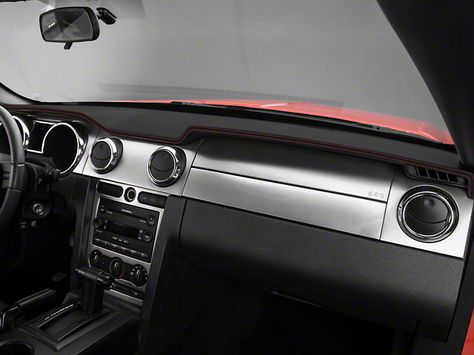 Mustang Dash Cover Black W Red Stiching 05 09 All Free Shipping Mustang Mustang Interior Mustang Accessories