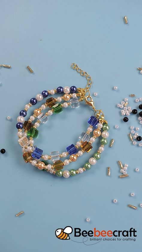 Beebeecraft tips on making bracelet with glassbeads.