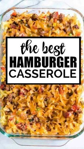 Hamburger Casserole Is One Dish Comfort Food At It S Finest Baked With Noodles Beef Casserole Recipes Beef Recipes For Dinner Ground Beef Recipes For Dinner