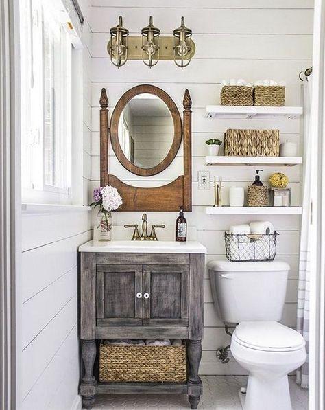 baños pequeños rusticos