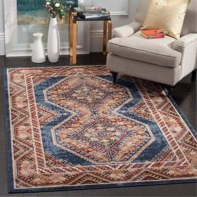 Loon Peak Isanotski Oriental Red Blue Area Rug Rug Size Rectangle 10 X 14 In 2020 Blue Area Rugs Area Rugs Colorful Rugs