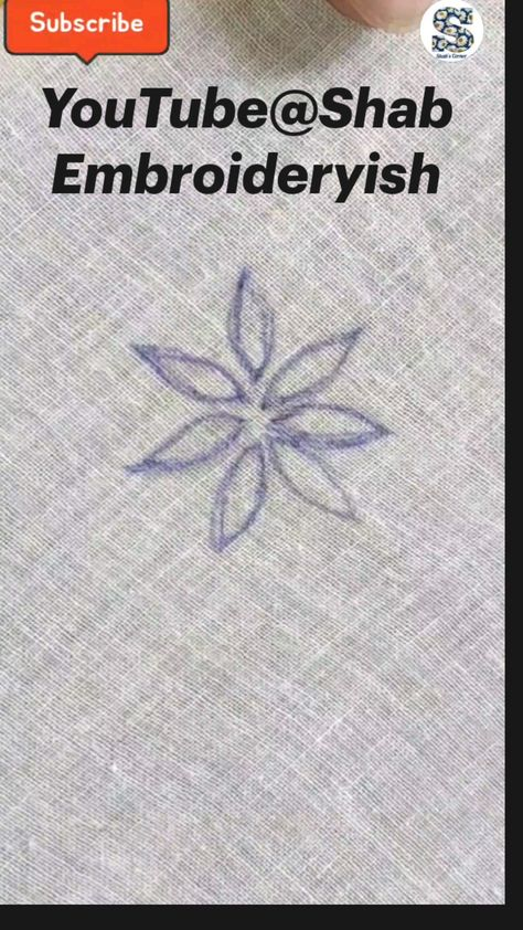 Hand Embroidery Design For Sleeves, Embroidery Tutorial For Beginners