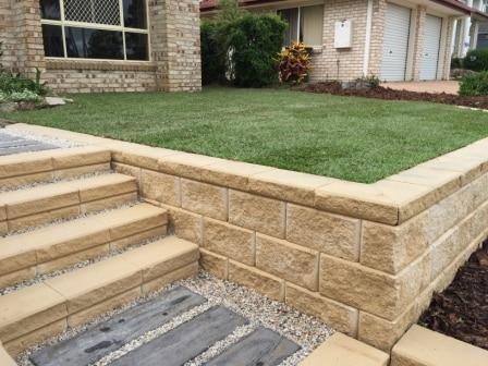 Gb Heron Steps Limestone Landscaped Steps In Brisbane Retaining Wall Landscaping Retaining Walls Garden Retaining Wall Retaining Wall