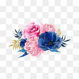 2020 的 Flowers Pink Blue Png Transparent Clipart Image And Psd