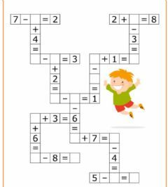 Math Crossrword Language English Grade Level Pre K 1 Grade School Subject Math Main Content Addition Math Activities Preschool Math For Kids Learning Math