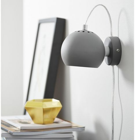 Luminaria De Parede Ball Cinza Com Imagens Abajur Para Quarto